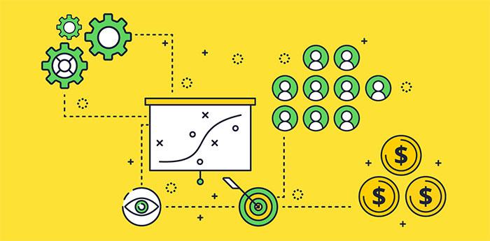 nodes depicting strategic sourcing