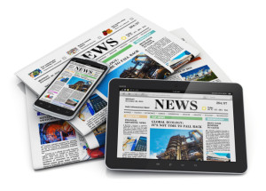 Newspaper options -- print, mobile, tablet.
