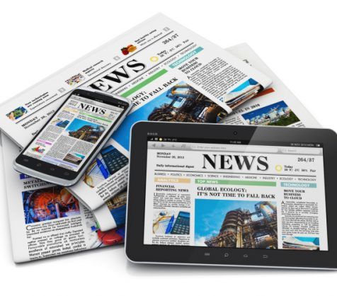 Newspaper options -- print, mobile, tablet.