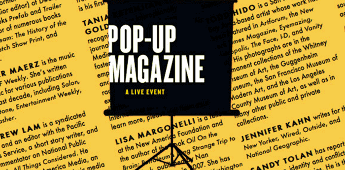 Pop-up-magazine