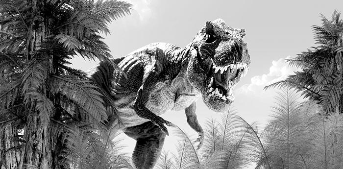 Dinosaur-bw