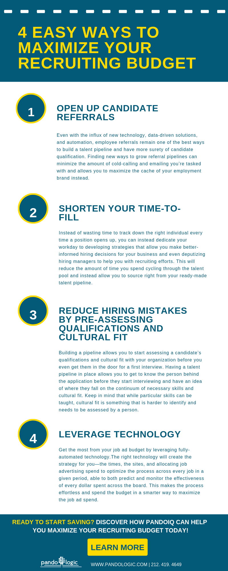 4 Easy Ways to Maximize Your Recruiting Budget