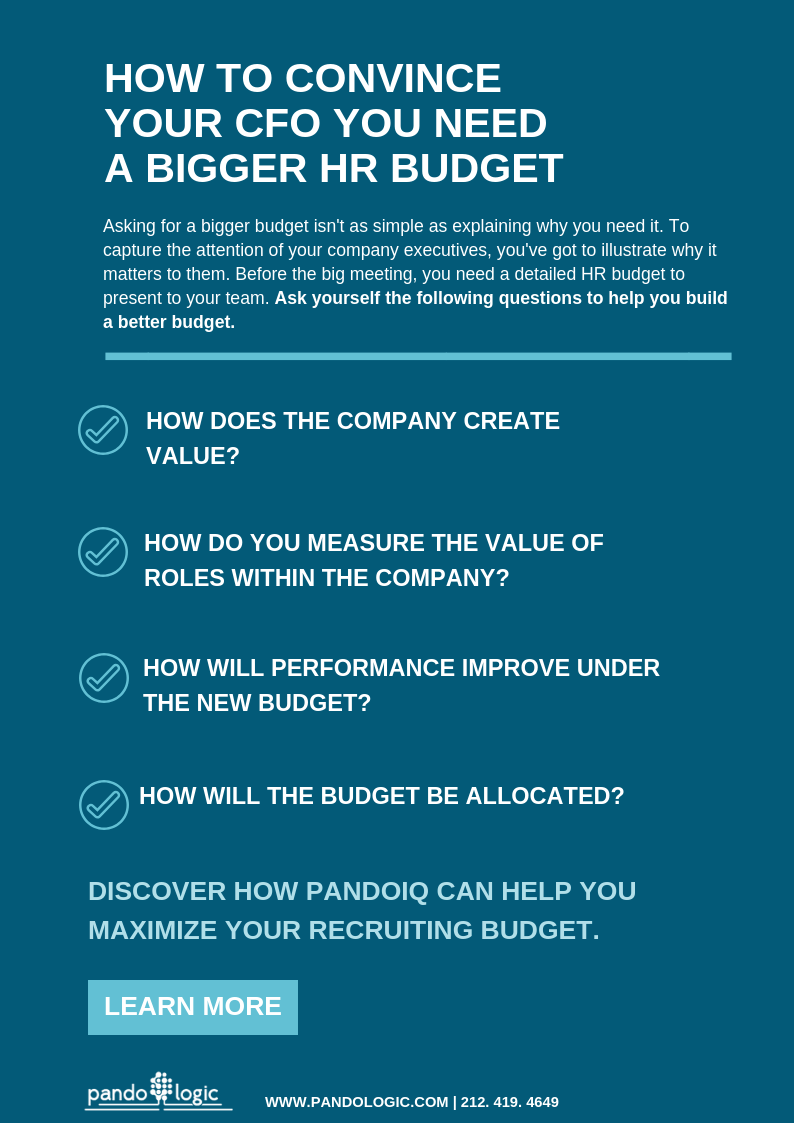How To Convince Your CFO You Need A Bigger HR Budget